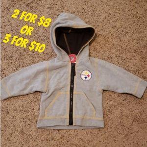 ❤ Kids Steelers Zip Jacket